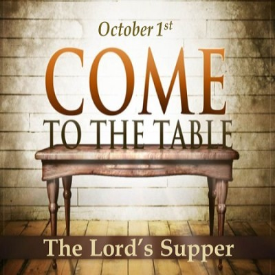 Lords supper Oct 1 75 100